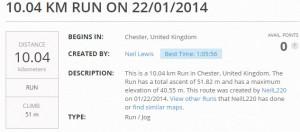 Neils first 10k run 2014-01-22