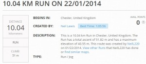 Neils first 10k run 2014-01-22
